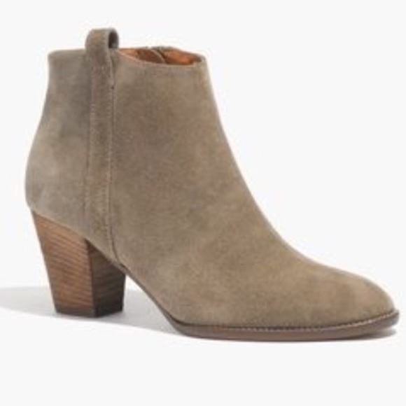 Madewell Billie Boot In Green Suede